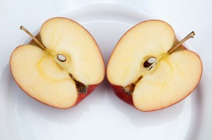 http://www.dreamstime.com/stock-photography-two-apple-halves-side-side-white-plate-image30596012